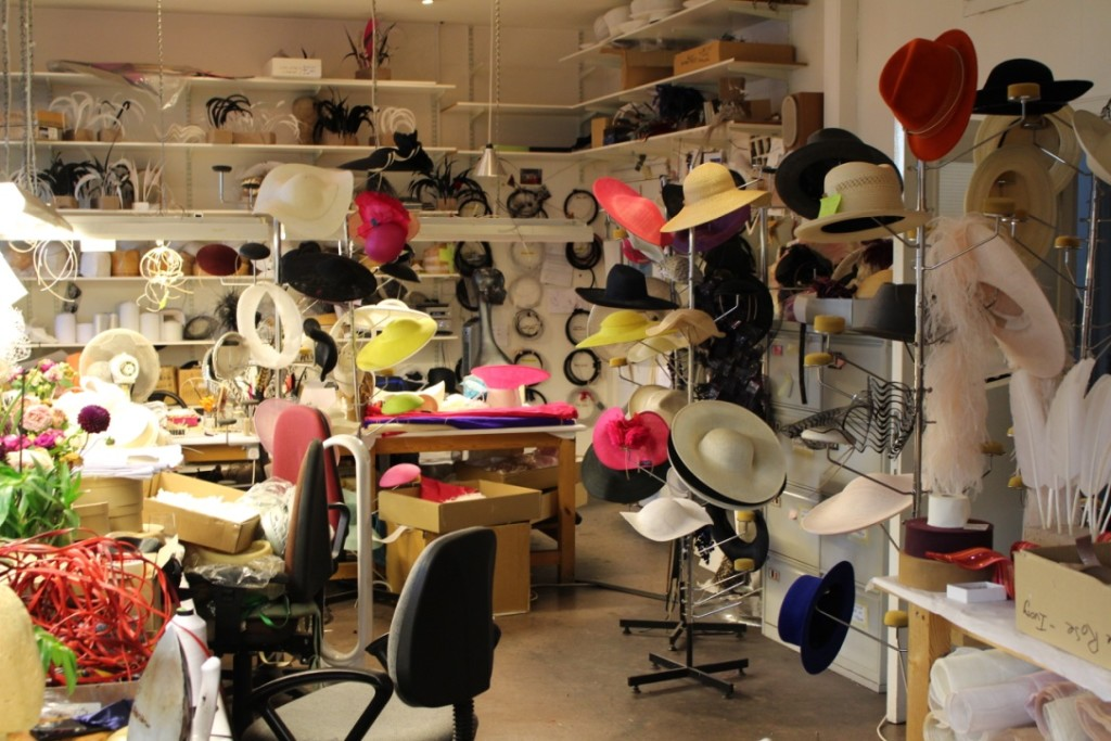 Philip Treacy workshop is a place of miracles and wonders.