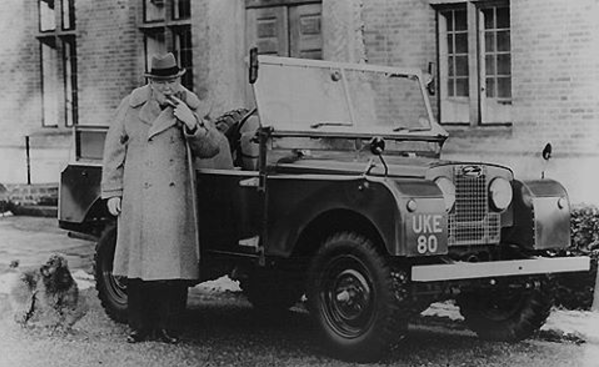 Churchill and Landrover